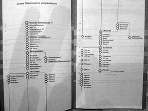 ...в прошлогоднее (но всё ещё актуальное) расписание движения пригородных электропоездов Павелецкого направления.