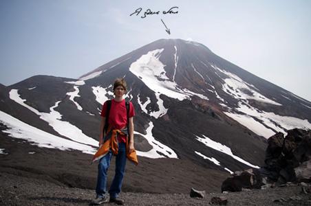 Я наАвачинском вулкане