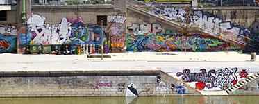Граффити нанабережной вВене